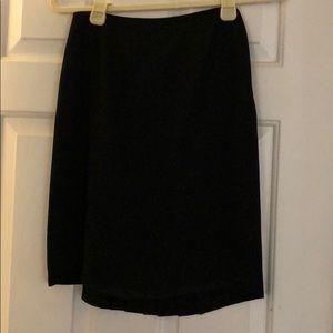 Petite Sophisticate black skirt suit, size 0P